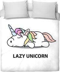 Lazy Unicorn Duvet Cover $120.00