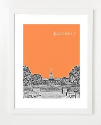 Bucknell University Poster Lewisburg City Skyline by birdAve, $20.00
