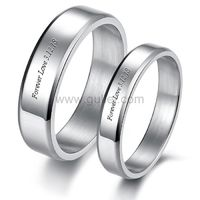 Personalized Matching His and Hers Wedding Rings for 2 https://www.gullei.com/personalized-engraved-matching-titanium-simple-promise-rings-for-2.html