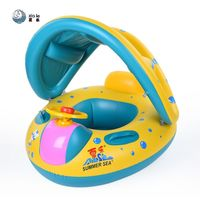 Safe Inflatable Baby Swimming Ring Pool Infant Swimming Seat Float Adjustable Sunshade Bathing Circle Inflatable Ring Summer Toy $41.28