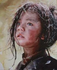 "Watercolor By Liu Yunsheng (�ˆ˜�'�""Ÿ)"