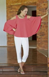 Gauze Cotton Crop Pants, $49.00, https://kollekcio.com