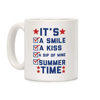 It's Summer Time Ceramic Coffee Mug $14.99 �œ� Handcrafted in USA! �œ� Support American Artisans