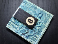 8 ball wood money clip, hand made Money Clip, Groomsmen gifts, Money Clip, Wood Money Clip, Groomsman Gift, Groomsmen gifts $33.00