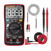 ANENG AN113D Auto Ranging True- RMS Digital Multimeter 6000 Counts Electrical Meter Transistor Tester Temperature AC/DC Voltage Current Meter Upgraded from AN8002
