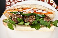 [EDIT: SUPER SUCCESS! January 2012] pork meatball banh mi. I want to make this right now. Times like this make me long for a grocery store not an hour away!