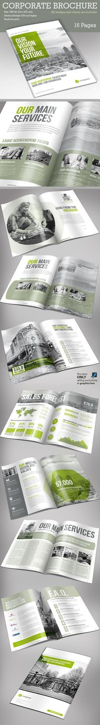 brochure template, corporate brochure design and brochure design.