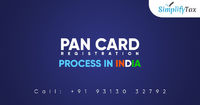 You can know about the new PAN Card Registration Process in India through Simplify Tax. Simplify Tax is providing all guidelines, rules, procedures & benefits of the PAN Card for the Income Tax related matters. Know more call: +91-931-303-2792 or visi...
