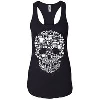Dead School - Doodle Art - Women's Racerback Tank Top $19.97