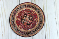 Round Dollhouse Rug | Miniature Rug | Dollhouse Accessories | Chic Doll Rug | Doll Accessories | Dollhouse Oriental Rug | Modern Doll Rug | $9.99