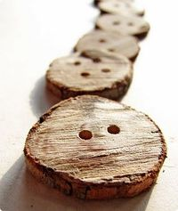DIY - Making Wooden Branch Buttons.
