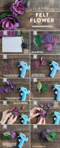 Make something special for Mom this Mother's Day with this DIY Mother's Day Felt Flower Brooch. Pattern and tutorial included!