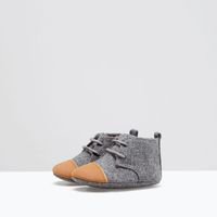 COMBINED FABRIC BOOTS from Zara