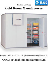 There are various cold room manufacturers in India but EPACK is a renowned name in construction industry and manufactures quality cold room as per customer requirements. http://www.portacabinmanufacturers.in/cold-room.html