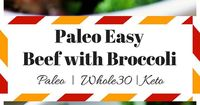 Paleo Whole30 Keto friendly beef with broccoli. Simple paleo chinese food. Easy and quick to prepare packs w/ tons of flavor. Follow the link for the recipe!
