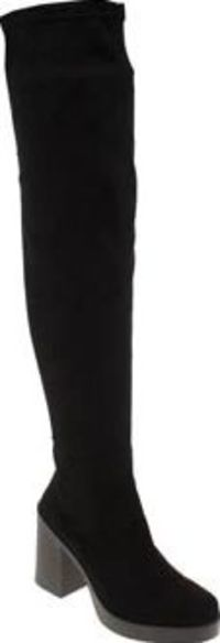 Schuh Black Night Vision Womens Boots Over the knee boots continue to be a huge trend this year so make sure youve got a pair at the ready. The Nigh Vision from schuh is a strong choice, crafted in faux-suede with a handy zipper fastening http://www.compa...
