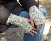 all this for them: cabled fingerless mitts