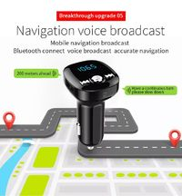 BC40 Bluetooth Car MP3 Player Hands-free Phone FM Transmitter Supports TF Card U disk