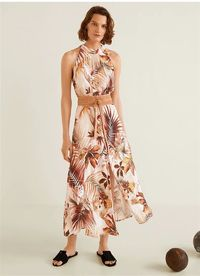 Sexy Halter Floral Sex sleeveless backless chic Maxi Dress $32.43