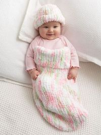 Knit Baby Cocoon and Hat