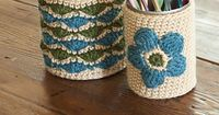 Right up my alley. You just can't have enough crochet-covered pencil holders
