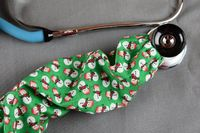 Stethoscope Cover Christmas Holiday | Snowman stethoscope Cord cover | Nurse Doctor Gift | Stethoscope Sock | Stethoscope Accessories $10.99