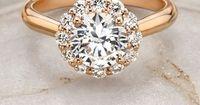 Beautiful Lotus Flower Diamond Ring