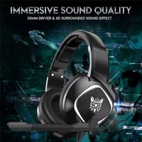 ONIKUMA K19 Gaming Headphone RGB Light Stereo Bass Wired Earphone With Noise Cancelling Mic
