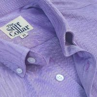Lavender Herringbone 2 Ply Premium Giza Cotton Button Down Shirt �'�1999.00