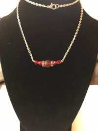Red Beaded Necklace $17.00