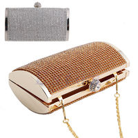 Woman Evening Clutch Handbag Rhinestone Diamante Purse