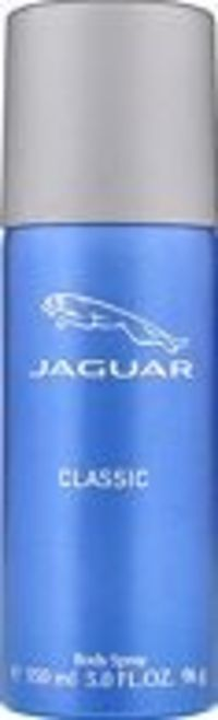 Jaguar Classic Body Spray 150ml Jaguar Classic by Jaguar is an aromatic fougere fragrance for men and was launched in 2002. Top notes are orange, juniper berries, lavender, mandarin orange, basil, star anise and bergamot; middle not http://www.comparestor...