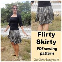 The flirty skirty is a 10 gored skirt pattern. You'll love to twirl in this skirt, it's so full of movement. Quick and easy to sew pattern with 1 piece.