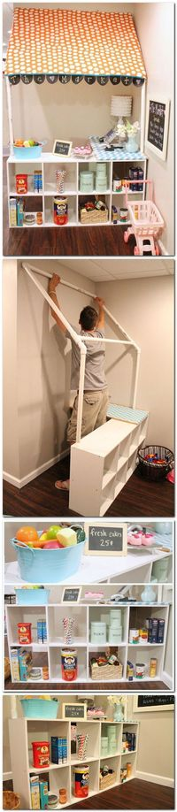 DIY children's grocery store--such a fun idea for a basement or playroom - My-House-My-Home