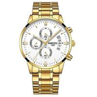 NIBOSI LEO Gold stainless steel quartz watch $59.99