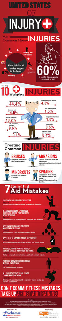 """The United States Of Injury' """" Infographic http://www.adamssafety.com/blog/?p=109"""