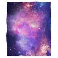Galaxy Blanket: Wrap yourself in stars and cosmic energy with this wonderfully soft and spacious galaxy blanket!
