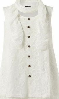 Dorothy Perkins Womens Izabel London Cream Floral Lace Top- Cream sleeveless floral lace top. Rounded neckline. No fastening. Length 80cm. 100% Polyester. Cold hand wash separately. Do not dry clean. http://www.comparestoreprices.co.uk/womens-clothes/...