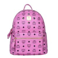 MCM Small Stark Four Studded Backpack In Pink
