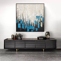 Modern abstract Canvas oil painting blue white original acrylic Wall Art wall decor pictures for living room huge size cuadros abstracto art $104.75