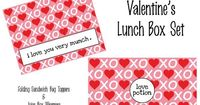 FREE Printable Valentine's Lunch Box Set- juice box wrappers and folding sandwich bag toppers.