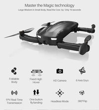 SYMA Z1 720P WIFI FPV Optical Flow Altitude Hold Mode Mini Foldable Pocket Drone RC Quadcopter