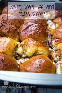Serve up these fun and easy roast beef sliders with melted Swiss cheese.