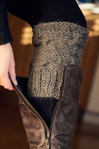 Knit Boot Cuffs pattern.....
