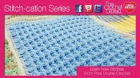 Crochet Waffle Texture: Front Post Double Crochet video and written instructions