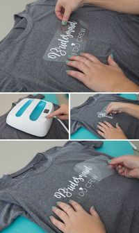 Use our free SVG cut files to create bridal party shirts with your Cricut Maker! It's SO easy, iron the designs onto anything, shirts, sweatshirts, tote bags an