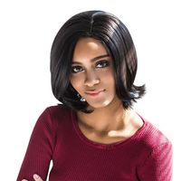 �Ÿ˜�AISIHAIR Women Charming Straight Medium Synthetic Curly Tail Black Wigs�Ÿ˜� $6.92
