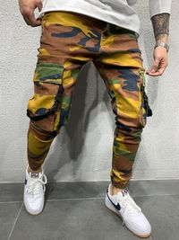 MENS STREET STYLE CAMOUFLAGE CARGO JEANS 4625 $82.00