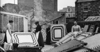 """Image: Shetland Museum and Archives. Photographer: A Abernethy--A hap �€"""" a word meaning to cover, wrap or keep warm �€"""" was a traditional shawl of everyday wear for Shetland women."""