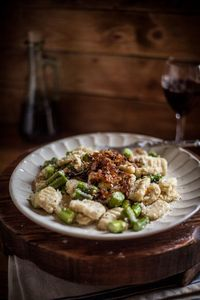 Toasted Sage Gnocchi with Sautéed Asparagus and Caramelized Shallots